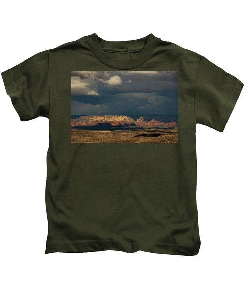 Secret Mountain Wilderness Storm Kids T-Shirt