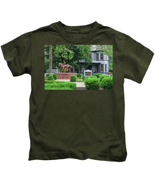 Secretariat Statue At The Kentucky Horse Park Kids T-Shirt
