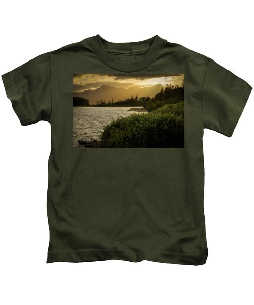 Sepia Sunset Kids T-Shirt