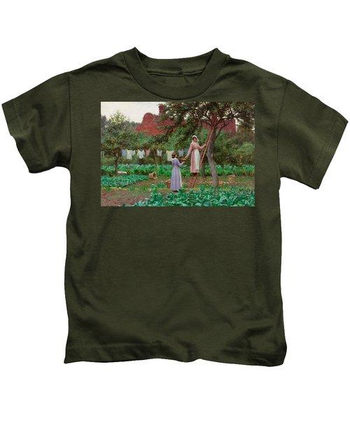 September Kids T-Shirt by Edmund Blair Leighton
