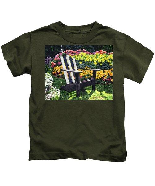 Serenity Among The Hydrangeas Kids T-Shirt