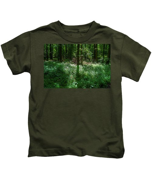 Shadow And Light In A Forest Kids T-Shirt