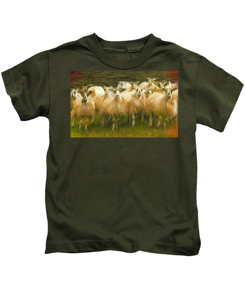 Sheep At Hadrian's Wall Kids T-Shirt