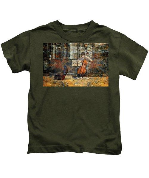 Sidewalk Cellist Kids T-Shirt