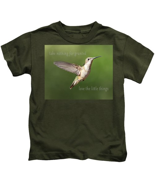 Simple Country Truths Hummingbird Kids T-Shirt