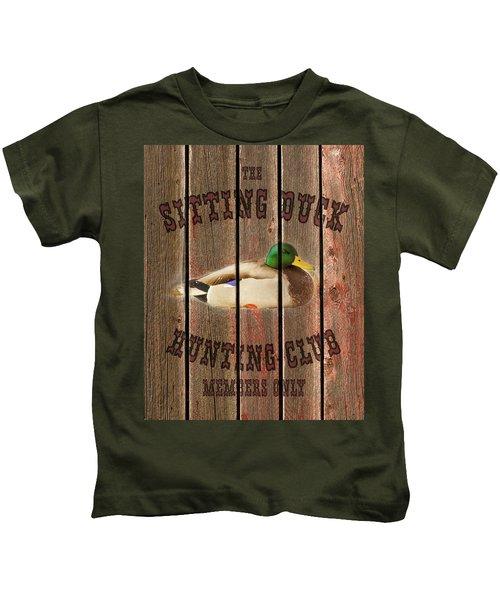Sitting Duck Hunting Club Kids T-Shirt