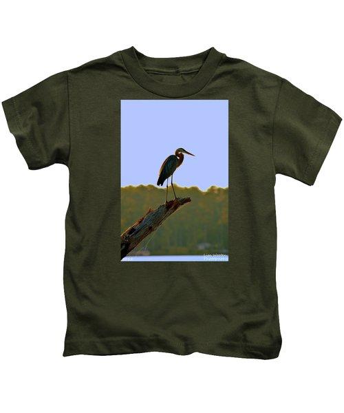Sitting High On The Log Kids T-Shirt
