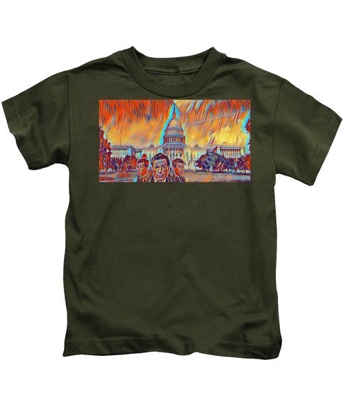Skeptical Eyebrows Kids T-Shirt