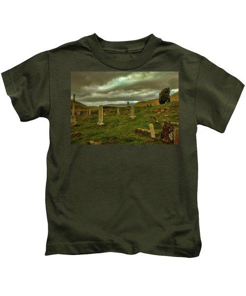 Skies And Headstones #g9 Kids T-Shirt