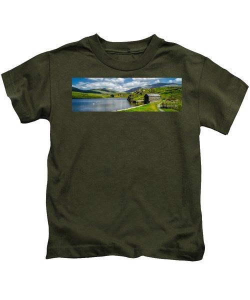 Skies Over Snowdon Kids T-Shirt