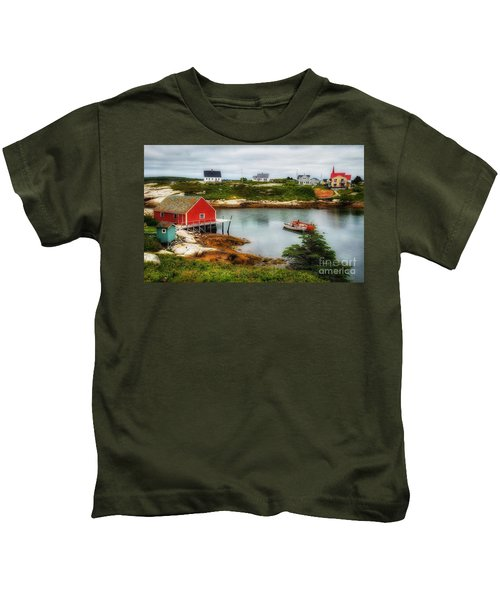 Sleepy Seascape Kids T-Shirt
