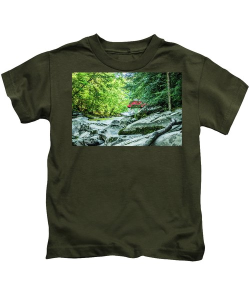 Slippery Rock Gorge - 1908 Kids T-Shirt