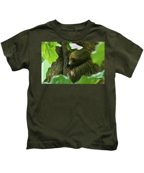 Sloth Sleeping Kids T-Shirt