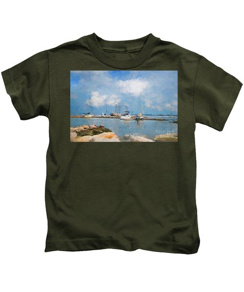 Small Dock With Boats Kids T-Shirt