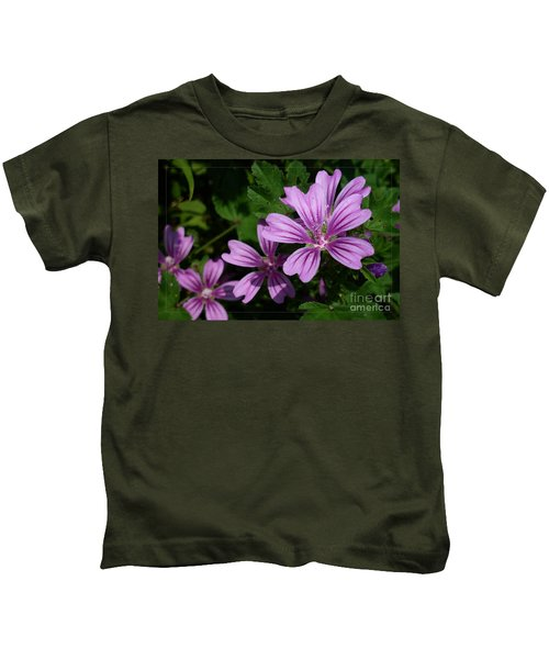 Small Mauve Flowers 6 Kids T-Shirt