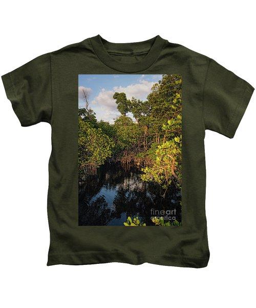 Small Waterway In Vitolo Preserve, Hutchinson Isl  -29151 Kids T-Shirt