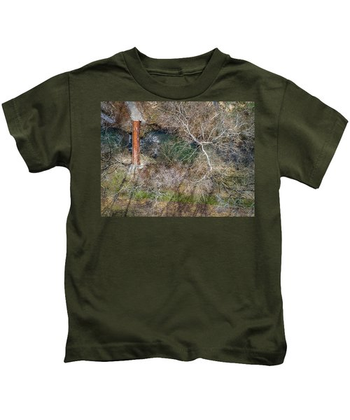 Snow Around The Creek Kids T-Shirt