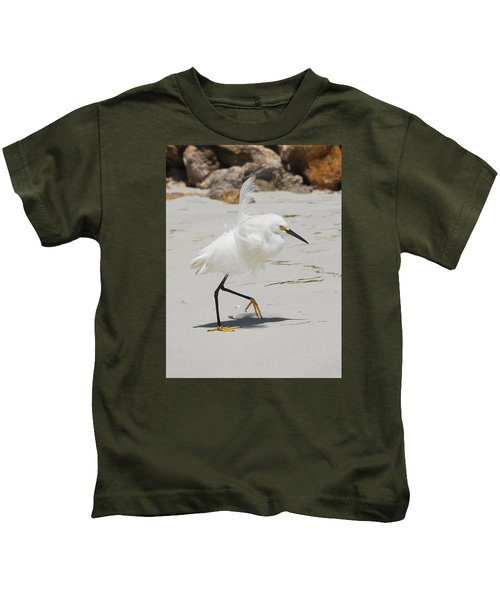 Snowy Egret 6429 Windy Kids T-Shirt