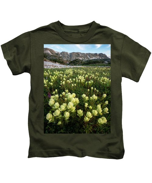 Snowy Range Paintbrush Kids T-Shirt