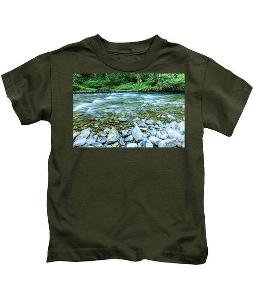 Sol Duc River In Summer Kids T-Shirt