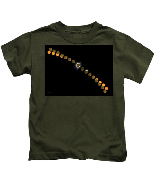 Solar Eclipse Stages 2017 Kids T-Shirt