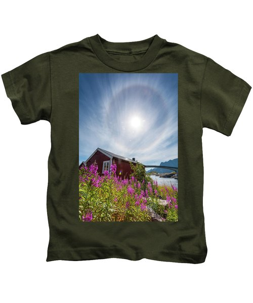 Solar Halo Above Rorbu Kids T-Shirt