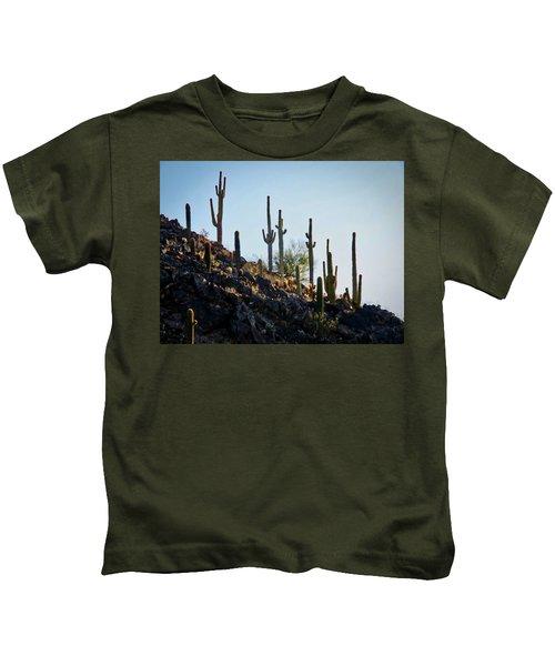 Sonoran Desert Saguaro Slope Kids T-Shirt