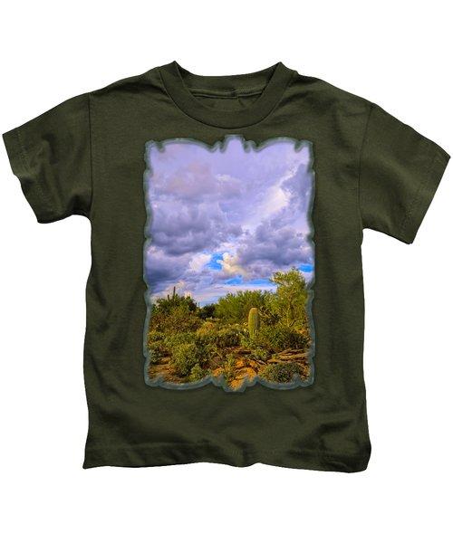 Sonoran Desert V13 Kids T-Shirt by Mark Myhaver