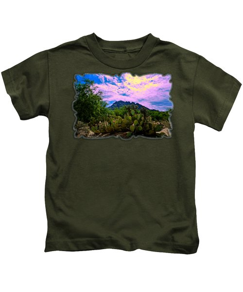 Sonoran Morning H54 Kids T-Shirt by Mark Myhaver