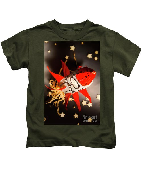Space Launch To Seek And Discover Kids T-Shirt