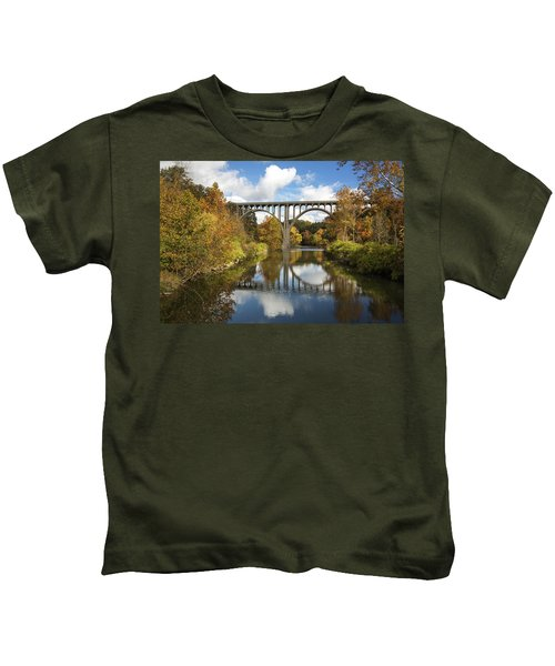 Spanning The Cuyahoga River Kids T-Shirt