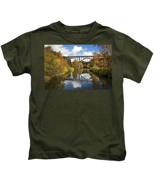 Spanning The Cuyahoga River Kids T-Shirt
