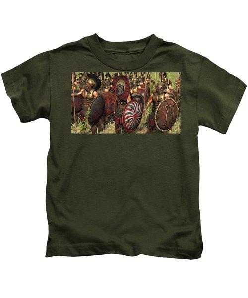 Spartan Warriors Before The Battle Kids T-Shirt
