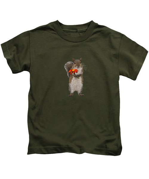 Special For You, Squirrel With Flower Kids T-Shirt