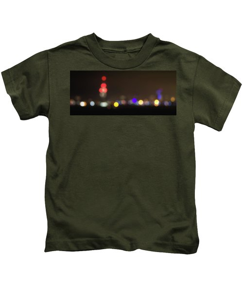 Spinnaker Tower Bokeh Kids T-Shirt