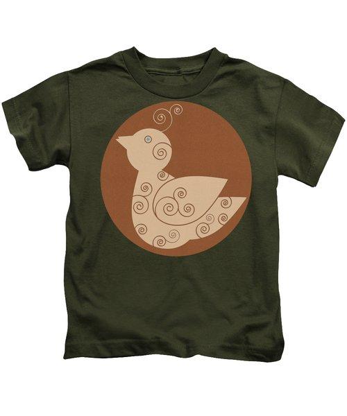 Spiral Bird Kids T-Shirt