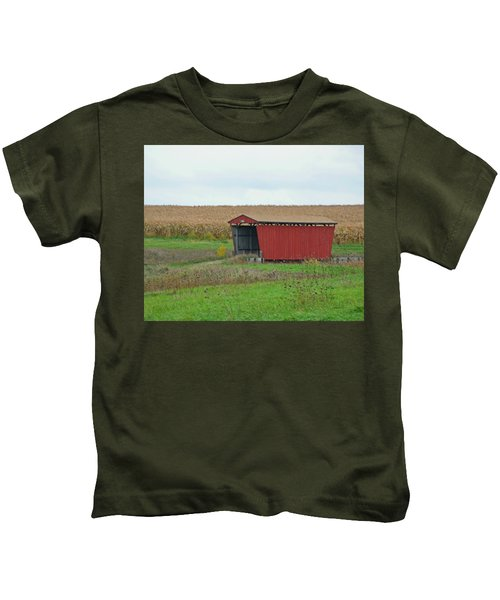Splinter Covered Bridge Kids T-Shirt