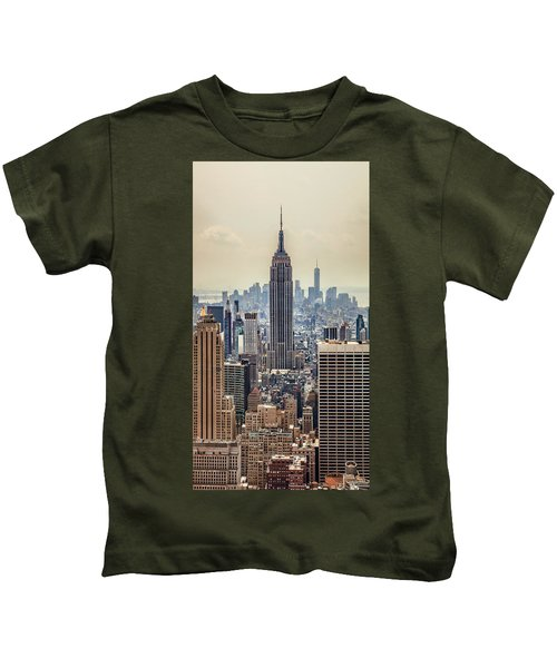 Sprawling Urban Jungle Kids T-Shirt by Az Jackson