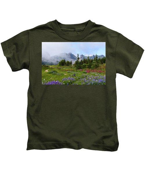 Spray Park In Mount Rainier Kids T-Shirt