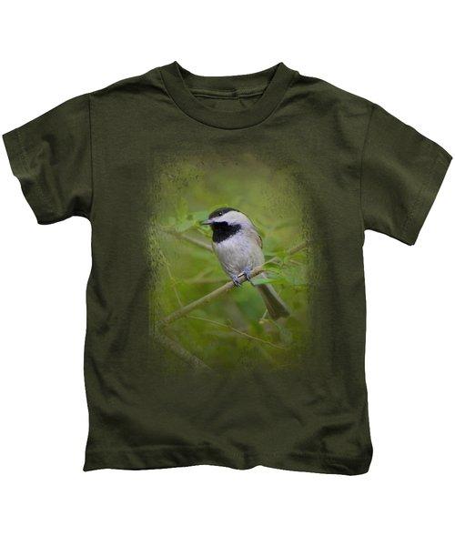 Spring Chickadee Kids T-Shirt by Jai Johnson
