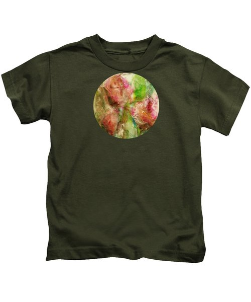Spring Garden  Kids T-Shirt by Mary Wolf