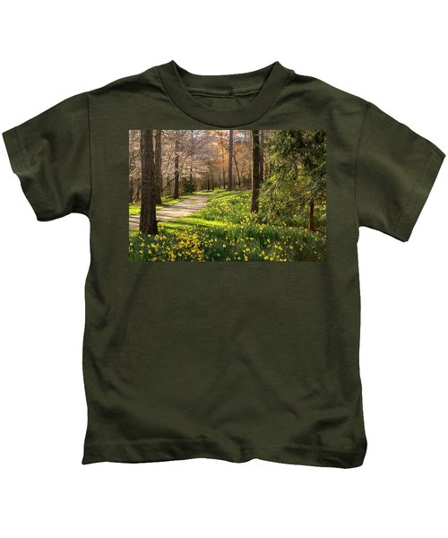 Spring Garden Path Kids T-Shirt