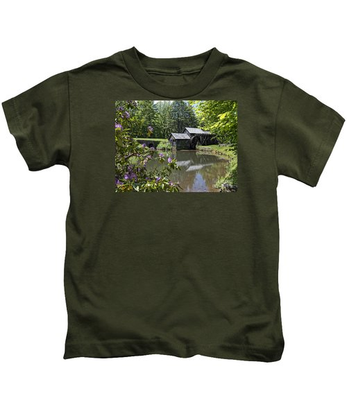 Spring Reflections Of An Ancient Mill Kids T-Shirt