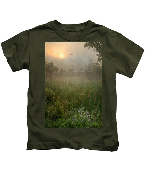 Spring Sunrise In The Valley Kids T-Shirt