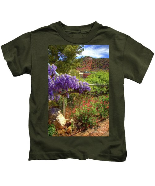 Springtime In Old Bisbee Arizona Kids T-Shirt