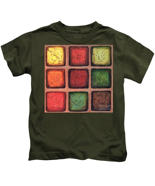 Squared In Bronze Kids T-Shirt