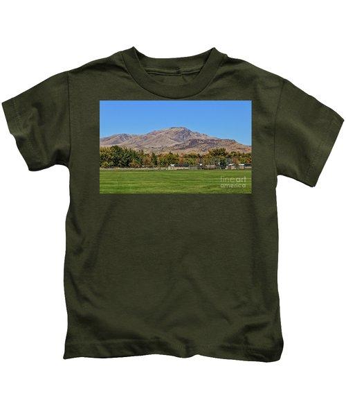 Squaw Butte From Gem Island Sport Complex Kids T-Shirt
