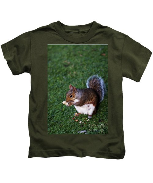 Squirrel Eating Kids T-Shirt