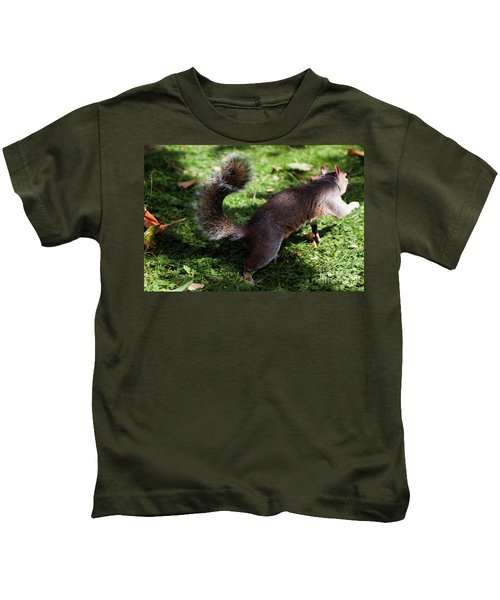 Squirrel Running Kids T-Shirt