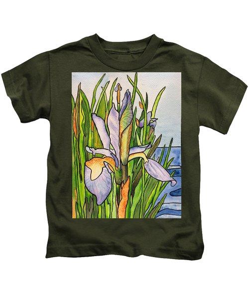 Stained Iris Kids T-Shirt
